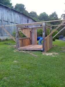 The chicken house-in-progress-has sprouted wings!