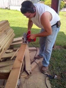 joey sawing