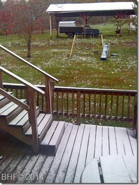 November 1 snow