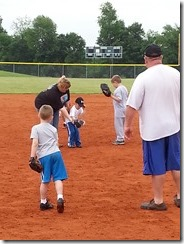 E pitching first practice